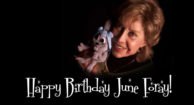 Social Media: Birthday Greetings for June Foray