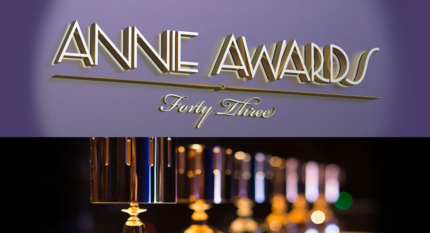 The 43rd Annie Awards Will Be Live Streaming Tonight! Watch it on Our Live Stream Channel!