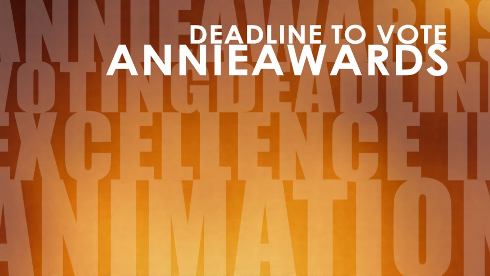 The 45th Annie Award Voting Continues! Your Ballot Deadline is Tuesday, January 23