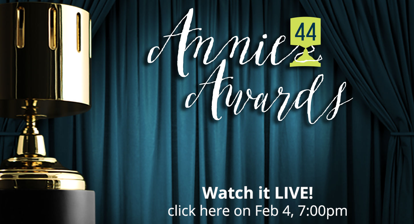 Get Your Annie Awards VIP Tickets Online! Hurry! We are Almost Sold Out!!