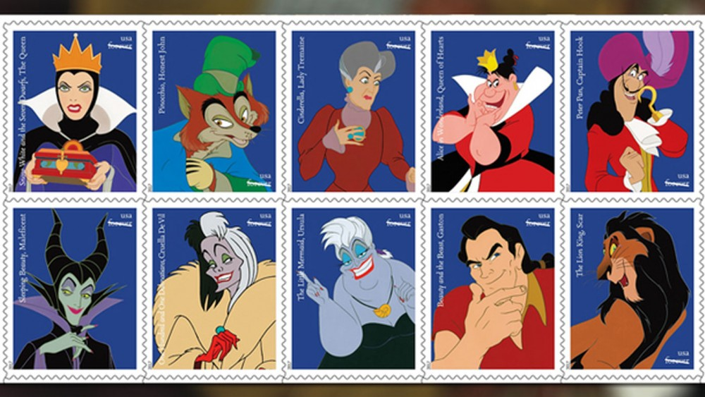 The USPS Honors Disney's Ink & Paint Artists with new Disney Villains Stamps