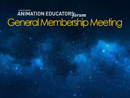 Animation Educators Forum General Membership Meeting Will Take Place May 5, 2018
